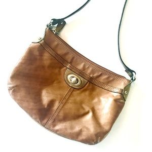 Tan leather bag by Fossil